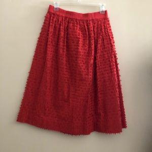 Burnt Orange textured Midi Skirt